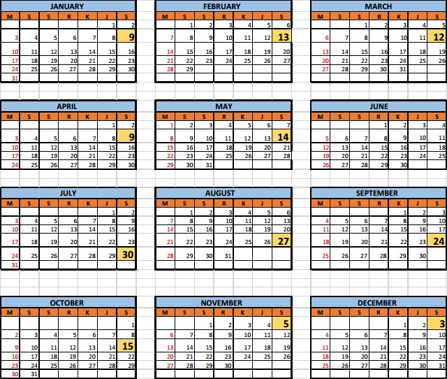 Graduation Calendar of Brawijaya University 2016